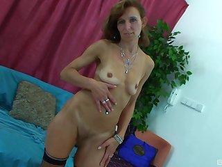 Adult blonde MILF Lambada gets a hardcore lady-love in stockings