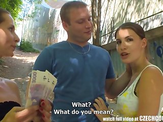 CZECH COUPLES Young Couple Takes Money for Be the source Foursome