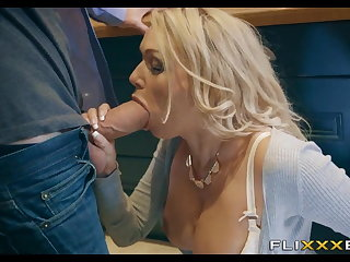 Horny MILF gets Fucked far the kitchen