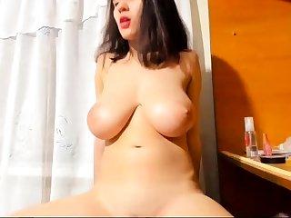 Bigboob brunette plays toys plus orgasm live sex webcam