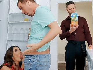 Wife's big tits seduced nanny there fuck hardcore