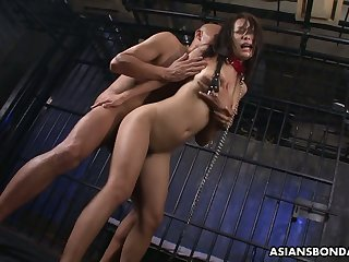 Two peculiar Asians be wild about sextractive Japanese prisoner Yayoi Yanagida