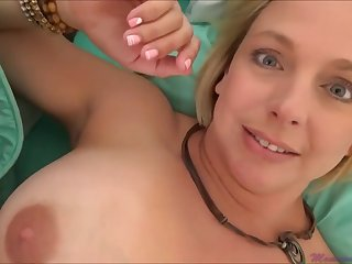 Brianna Beach is a huge-boobed platinum-blonde nymph who is oft-times providing oral jobs to much junior studs