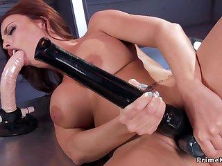 Busty Tits perforator sucking trinket plus fucks machine