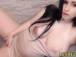 Lovely pregnant tot enjoys vibrator on her wet pussy