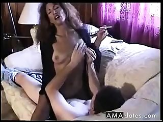 Hot Sexy Sunless Smoking and Riding Cock