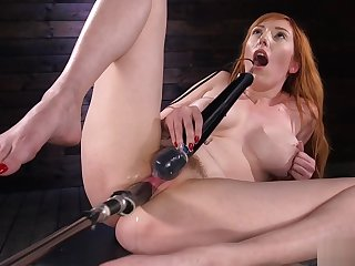 Huge knockers redhead machine banged