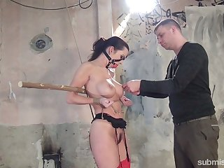 Retard horny Czech bitch Cindy Dollar who loves subjugation and hardcore treatment