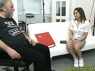 Being lured by mint young chick Ulia bearded defy eats say no to tight pussy