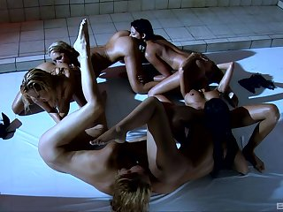 Nude babes working gather up to serve superb lesbian porn