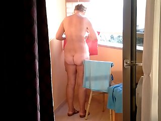 blistering mature strip on hotel balcony