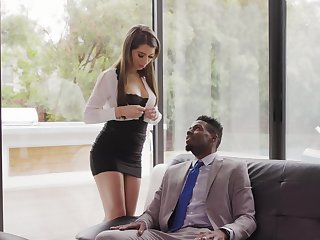 Beautiful white secretary Joseline Kelly gets her anus holed by diabolical boss
