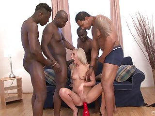 Black dudes are ordinary down ruin this blonde babe's holes