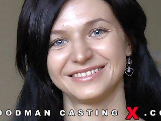Aphoristic tits skinny brunette Lina Arian - hardcore casting nigh cumshot