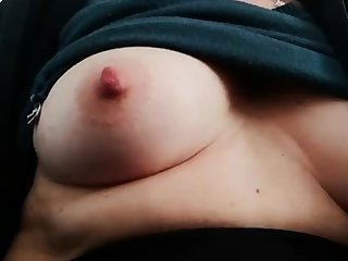 Fat virago rubs her fat pussy and nipples