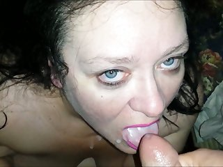 This dirty BBW bitch sucks dick for money and she likes take salt
