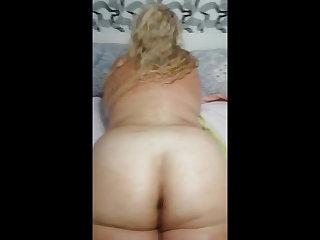 Creaming that BBW ass - Blond Chubby MILF
