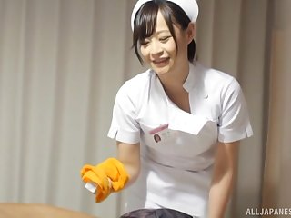 Japanese nurse drops her underpants to execrate fucked by a patient