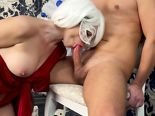 Christmas Gift For Me Cock And Cum In Mouth! Order about Wife Gives Gift Every Man Wants