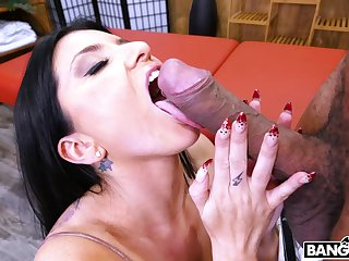 Interracial fucking with order about tattooed of age Romi Rain. HD