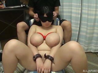Video of hot ass Amayoshi Shizuki giving a sloppy blowjob
