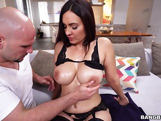Balls deep throat fucking and pussy pounding with Latina Sophie Leon