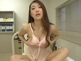 Stunning Japanese coworker Kashii Ria takes off say no to attire to play