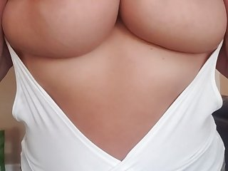 Can I slap you in the face encircling my huge milf tits?