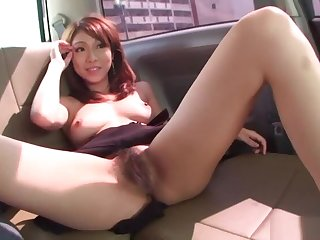 Asian cuttie pie procurement her pussy toy fucked
