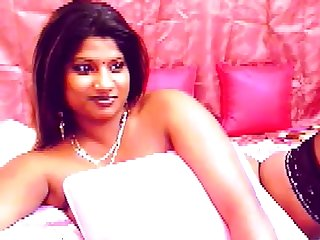 Busty Indian piece of baggage on every side big dark areolas