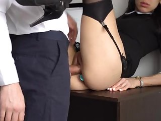 Ass Fucking Domestic Ejaculation Be worthwhile for Gorgeous Super-Bitch Assistant, Chief Smashed Their way Cock-Squeezing Cooter Together with Culo!