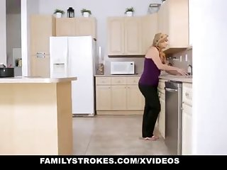 FamilyStrokes - Warm Step-Sister And Old woman Tricked And Romped By StepBro