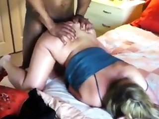 Wife Grunting Foreign a Huge Black Dick